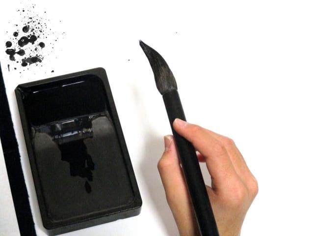 すずりと筆