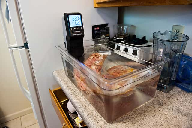 低温調理器の使用例