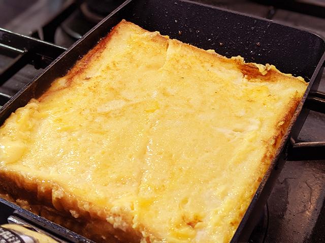 卵焼き器でフレンチトースト