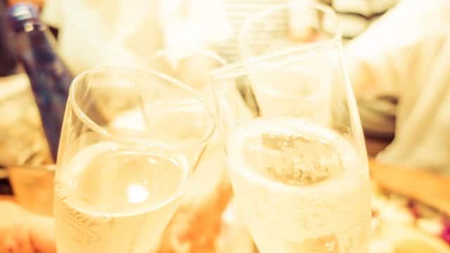 乾杯、グラス