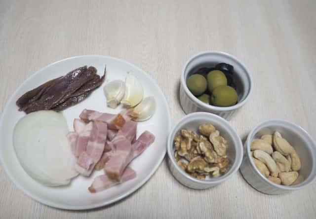 食べるオリーブオイル材料
