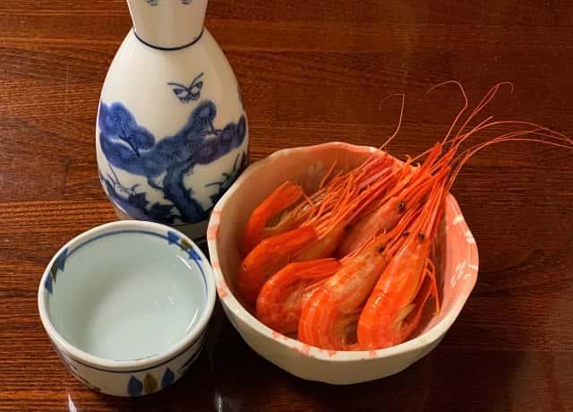 北海シマエビと日本酒