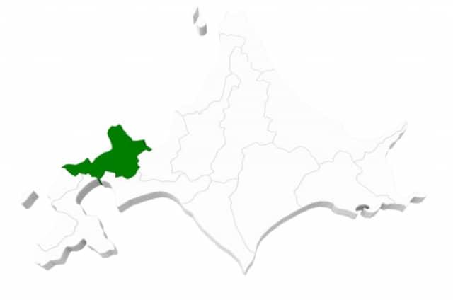 北海道後志地方の地図