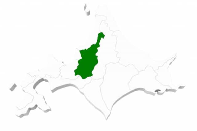 北海道空知地方の地図