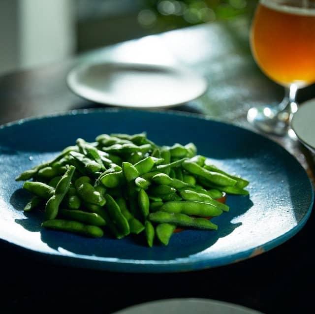 枝豆「THE AROMA GREEN」とエールビール